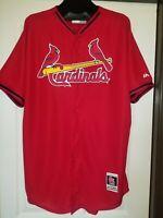 St. Louis Cardinals Majestic Men's Red Blue Jersey Size 48