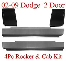 02 09 Dodge 4Pc Regular Cab Slip-On Rocker & Cab Corner Kit, Ram Truck, 2 Door