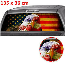 135x36cm American Eagle Flag Stickers Car Rear Window Perforated Vinyl Decal