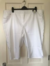 Ladies BNWT George White Cropped Jeans Size 24