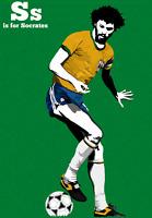 Socrates Retro Glossy Art Print 8x10 Inches Brazil Fiorentina Football