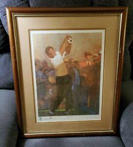 Rare Arnold Palmer World Golf Hall Of Fame framed Print 392/600