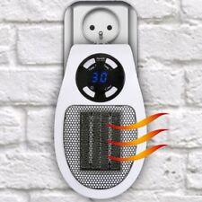 Steckdosen Heizlüfter Mini Heizung Elektroheizer Mobile Heizgerät Heater mit LCD