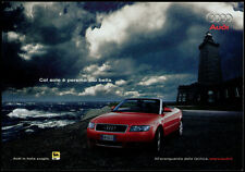 cartolina pubblicitaria PROMOCARD n.3757 AUDI A4 CABRIOLET AUTOMOBILE