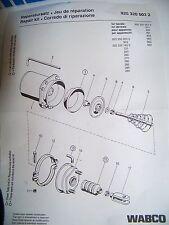 Wabco Reparación - Kit 9253200032 para Tristopzylinder, Cilindro de freno