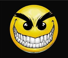 """Evil Smiley Smile Full color Graphic Window Decal Sticker Decals Stickers 6""""x 6"""""""