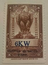Ekko Radio Verified Reception Stamp 6Kw Caribbean IslandCuba