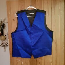 Elegante Brillante Azul Vintage Chaleco, tamaño XXXL DQT