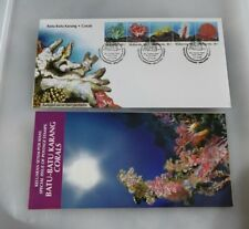 1992 Malaysia Batu batu karang Corals 5v setenant stamp FDC with brochure