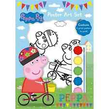 PEPPA Pig Poster Art Set vernice pittura Attività Craft Kit FOTO DA COLORARE ART