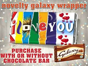 Valentines Day I LOVE YOU Chocolate Bar Wrapper Novelty Valentine Gift Birthday