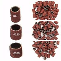 150PZ Scovolini Abrasivi Ricambio Per Fresa Unghie Nail Art Grit 80 120 180