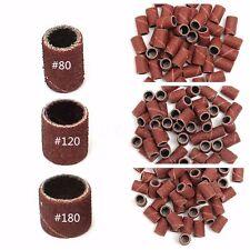 150PZ Scovolini Abrasivi Ricambio Per Fresa Unghie Nail Art Grit 80 120 180 SET