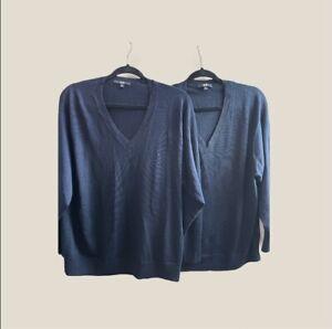 UNIQLO - 100% Extra Fine knit Light Wool V Neck Jumper - Size XL - 2 x Bundle