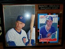 1988 MARK GRACE ROOKIE PLAQUE WITH HIS DONRUSS ROOKIE CARD