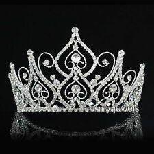 "Bridal Pageant Beauty Contest 4.0"" Tall Tiara Crown use Swarovski Crystal T1826"