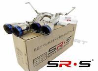 "SRS Axleback Exhaust MUFFLER Delete BURNT 3.5"" TIPS DW FOR SUBARU WRX STI 15-20"