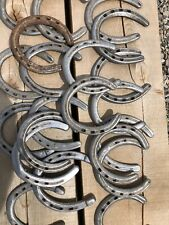 20 Used Horseshoes For Crafting And Metalworking Flattened And Nails Removed.