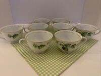 Sone China Moss Ivy Fine Porcelain Japan Set of 8 Coffee/Tea Cups NO saucers EUC