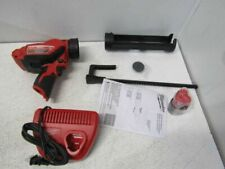 New listing Milwaukee 12-Volt Cordless 10oz Calk and Adhesive Gun Kit 2441-21