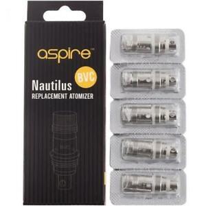 Aspire Nautilus Replacement Atomizer Coils 2S Mesh 0.7Ω 1.8Ω 1.6Ω Pack of 5