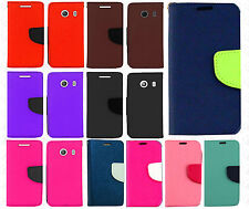 Straight Talk Samsung Galaxy ACE Leather 2 Tone Wallet Case Pouch Flip Cover