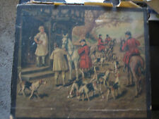 Vintage Store Display Box For Ladies Gloves With Hunt Scene by T. J. Slaughter