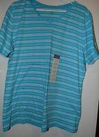 Laura Scott Womens Plus Core V - Neck  Shirt Size16/18W  NWT  Stripe