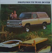 Plymouth Trail Duster PD150 PW150 1981 Original USA Brochure Custom Sport Macho