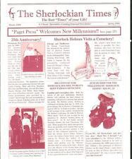 THE SHERLOCKIAN TIMES W/99-S/00, rare US Sherlock Holmes magazine adzine
