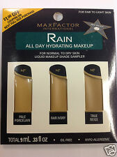 Max Factor Rain All Day Hydrating Makeup Shade Sampler FOR FAIR TO LIGHT SKIN