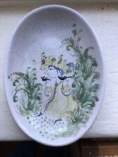 BJORN WIINBLAD DANMARK ART STUDIO POTTERY Hand Painted 8 Inch  dish