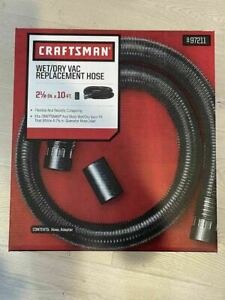 Genuine Craftsman Wet/Dry Vac Replacement Hose 2 1/2in x 10ft Hose & Adapter!
