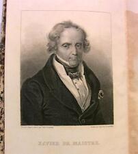 1861 XAVIER DE MAISTRE OEUVRES VOYAGE AUTOUR CHAMBRE..+GRAVURE ACIER+CHARPENTIER