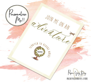 Scratch & Reveal Surprise Trip Card. Travel Card. Jetting Off. Holiday Card Gift