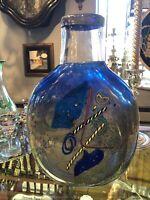 """Vintage Kosta Boda Bertil Vallien Satellite Blue Art Glass Vase 13"""" Height"""
