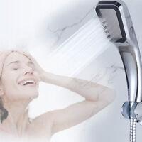 High Pressure 300 Holes Shower Head Powerfull Boosting Spray Bath Water Saving Y