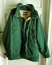 Vintage Woolrich Insulated Winter Parka Jacket Coat Mens XL Forest Mackinaw USA