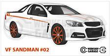 Holden VF - SANDMAN UTE WHITE #02 - Sticker