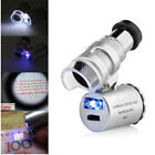 60x Handheld Mini Pocket Microscope Loupe Jeweler Magnifier LED Light Trendy.