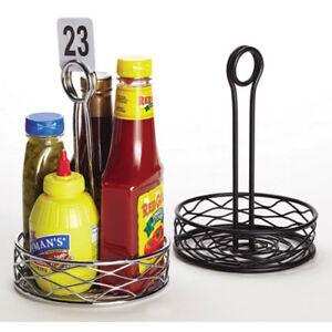 "Birdnest Condiment Organizer - 6""Diam.x9-1/8""H Small Rack, Black"