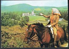 ARTHUR DIXON POSTCARD HER MAJESTY THE QUEEN RIDING AT BALMORAL C1970'S