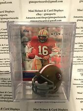 Joe Montana San Francisco 49ers Mini Helmet Card Display Collectible HOF QB Auto