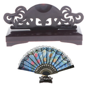 Vintage Art Chinese Style Folding Fan Stand Display Base Holder Home DecorBVDE