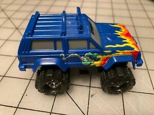VHTF Schaper Stomper II Blue Jeep Cherokee Flaming Dragon Decal Runs with Lights
