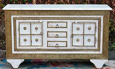 Shabby Chic Timber Vintage Moroccan Brass Indian Timber Sideboard
