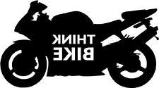 Pensate BICI smettere di pensare Bici Moto Adesivo Decalcomania Grafica VINILE NERO REV V2