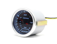 """52mm 2"""" Smoked Dial Turbo Boost gauge -1  to 2 Bar Pressure white back-light New"""