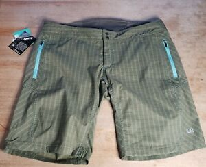 Club Ride Ventura Bike Shorts Men's XL Adjustable Waist New Green Reflective NWT