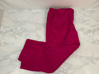 Kim Rogers Women's Cropped Pants Flat Front Pink Size 16 Zip Up Casual A